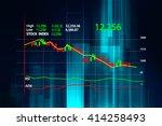 financial graph on technology... | Shutterstock . vector #414258493