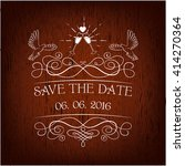 wedding invitation. save the... | Shutterstock .eps vector #414270364