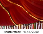a circus tent inside with lights | Shutterstock . vector #414272050