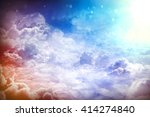 over the clouds. fantastic... | Shutterstock . vector #414274840