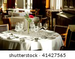 romantic table   Shutterstock . vector #41427565