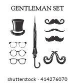 gentleman set. mustache set....   Shutterstock .eps vector #414276070