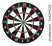 Stock photo dartboard isolated on white background 414294310