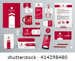 professional red luxury... | Shutterstock .eps vector #414298480