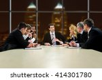 people in suits having... | Shutterstock . vector #414301780