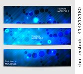 abstract geometric banners... | Shutterstock .eps vector #414313180
