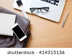 business workplace from top... | Shutterstock . vector #414315136