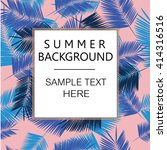 summer denim camouflage... | Shutterstock .eps vector #414316516