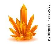 orange quartz crystal isolated... | Shutterstock .eps vector #414319810