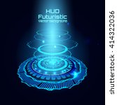futuristic interface  hud   sci ... | Shutterstock .eps vector #414322036