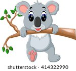 cute koala cartoon | Shutterstock .eps vector #414322990