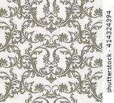 vector baroque vintage floral...   Shutterstock .eps vector #414324394