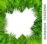 illustration natural frame with ... | Shutterstock .eps vector #414325960