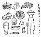 hand drawn vector illustration  ... | Shutterstock .eps vector #414326278