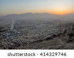 evening view of kabul in... | Shutterstock . vector #414329746