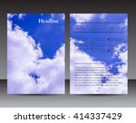 abstract flyer design with sky... | Shutterstock .eps vector #414337429