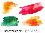 a set of vector watercolour... | Shutterstock .eps vector #414337738