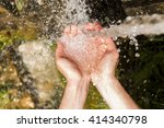 drinking water   natural water | Shutterstock . vector #414340798