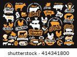 Vector Set Of Butchery Labels ...
