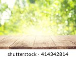 empty wooden table planks over... | Shutterstock . vector #414342814