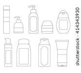 set of cosmetic bottles.... | Shutterstock .eps vector #414343930