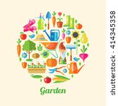 garden colored poster its many... | Shutterstock .eps vector #414345358