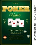 poker tournament poster with... | Shutterstock .eps vector #414345394
