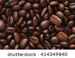 coffee beans  coffee grains... | Shutterstock . vector #414349840