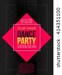 vertical music party background ... | Shutterstock .eps vector #414351100