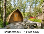 wooden log cabin also know as...   Shutterstock . vector #414355339