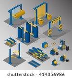 set of equipment for car... | Shutterstock .eps vector #414356986