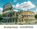 coliseum in rome  italy. roman... | Shutterstock . vector #414359344