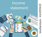 income statement report.... | Shutterstock .eps vector #414359419