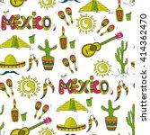 seamless mexican pattern. hand...   Shutterstock .eps vector #414362470