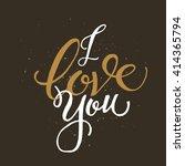 golden hand lettering of the... | Shutterstock .eps vector #414365794