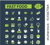 fast food icons  | Shutterstock .eps vector #414367564