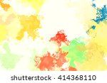 colorful splashed paint... | Shutterstock . vector #414368110