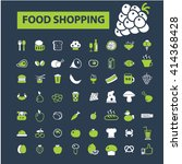 food shopping icons    Shutterstock .eps vector #414368428