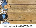 happy fathers day gift tag with ... | Shutterstock . vector #414372628