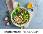 spring salad with radishes ... | Shutterstock . vector #414373834
