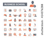 business school icons  | Shutterstock .eps vector #414376288