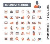 business school icons    Shutterstock .eps vector #414376288