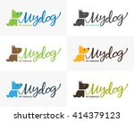 my dog logo design. | Shutterstock .eps vector #414379123