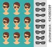 womens sunglasses shapes for...   Shutterstock .eps vector #414380389