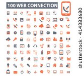 web connection icons  | Shutterstock .eps vector #414383680