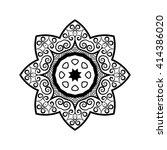 vector mandala. ethnic...   Shutterstock .eps vector #414386020