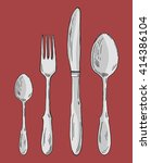 cutlery | Shutterstock .eps vector #414386104