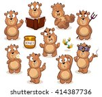 big collection of bear... | Shutterstock .eps vector #414387736