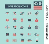 investor icons  | Shutterstock .eps vector #414387844