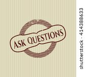 ask questions grunge style stamp | Shutterstock .eps vector #414388633